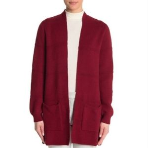NWT Joseph A Open Cardigan Sweater Cranberry Red